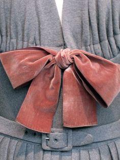 Madame Grès velvet bow