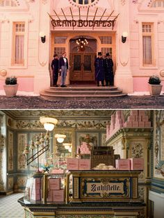The Grand Budapest Hotel Grand Budapest Hotel, Grand Hotel, Pink Movies, The Royal Tenenbaums, Wes Anderson, Eastern Europe, Belle Epoque, Architecture, Decoration