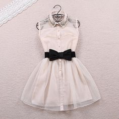 Pearl organza sweet dress
