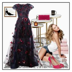 """""""I could have danced all night . . ."""" by winscotthk ❤ liked on Polyvore featuring Christy, Oscar de la Renta, Christian Louboutin, Nancy Gonzalez, Kate Spade, Reeds Jewelers and Yves Saint Laurent"""
