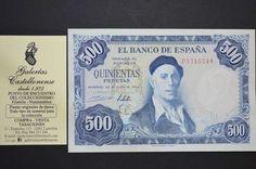 . Billete estado espa�ol, valor 500 pesetas, emisi�n 22 de julio a�o 1954, serie p, plancha. recrea a ignacio zuloaga. disponemos de ejemplares de mas o menos calidades. cualquier duda consultanos.