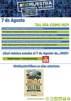 TAL DÍA COMO HOY. 7 de Agosto. #DeMuestraVillena  www.muestravillena.villena.es www.facebook.com/Muestravillena @muestravillena