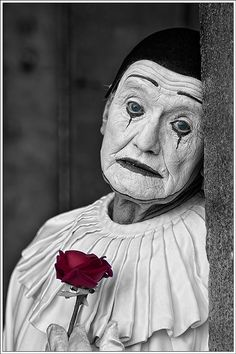 Melancholic clown via Waheed Akhtar