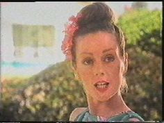 Lorraine Chase in an ad for Campari 'No, Luton Airport'