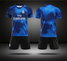 c648280ef Without Logo 2018-19 AAA Kids Real Madrid EA Sports Soccer Uniforms  Children Football Kits