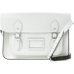 The Cambridge Satchel Company The Cambridge Satchel Company Women's... ($119) ❤ liked on Polyvore featuring bags, handbags, shoulder bags, white, leather cross body purse, shoulder strap bag, genuine leather handbags, white crossbody handbags et crossbody shoulder bags