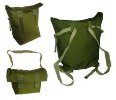 Waterproof-Danish-Army-Roll-Top-Rucksack-Backpack-Shoulder-Bag-Olive Ebay