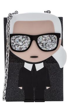 Metal Chain, Karl Lagerfeld, Sunglasses Case, Shoulder Strap, Glitter, My Style, Bags, Shopping, Pocket
