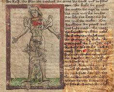 """This 1429 'Medizinisch-Astrologisches Hausbuch' (Medical Astrology Housebook) from Nuremburg - """"links and systematizes medical and astrological knowledge to create a kind of everyday handbook for medical treatments, especially bloodletting, to be administered by laymen at home."""