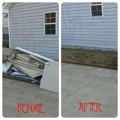 It was a Fabulous Friday at Junk King! Are you getting a jump on the new year by getting those renovations out of the way? Let us give you a hand. We can come by at your convenience to come get the waste that renovations create. Leaving you to just worry about the creative aspect of it. Give us a call today, in the meantime check out this awesome before and after! #junk #junkremoval #cleanout #renovations #onlinemarketing #beforeandafterpics