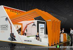 Дизайн-проект выставочного стенда компании — «Эксмаш»