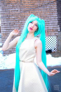 Vocaloid's usual style is about long twin tails that are bright teal & saturated. Since the wig is long enough, you have a huge margin to trim it the way you want. Vocaloid Miku wig incorporates synthetic slick fibers that contributes to the brightness the wig holds.   Buy here:  https://www.uniqso.com/products/cosplay-wig-vocaloid-miku-cs-075c?variant=28947263570