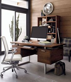 Love this masculine look - a good amount of storage and a sleek and modern design