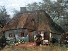 https://flic.kr/p/vbt48k | Stadelsches Kunstinstitut, Frankfurt | Vincent van Gogh (1853-90) - Farmhouse in Nuenen, 1885 : detail