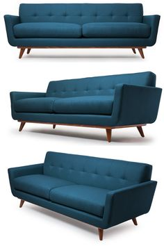 If you like Mid-Centurymodern, you'll love this sofa. I'm impressed how this teal blue adds a little color too. I'm not usually one forcolor in my furniture butif it's one piece and a timele