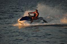 Jet ski in sea