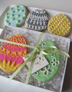 Pretty Pastel-Hued Sweets - These Easter Egg Sugar Cookies are Almost Too Beautiful to Eat