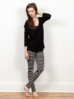 Small Trades Lola Leggings - Black/White