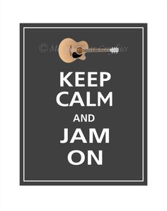 Keep calm and Jam on. Dream Music, Music Is Life, My Music, Folk Music, Guitar Room, Drum Room, Guitar Art, Music Man Cave, Band Rooms