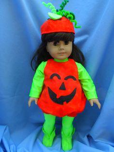 American Girl Doll Great Pumpkin Halloween Costume by SLSewingRoom, $25.00