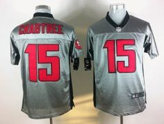 Nike San Francisco 49ers #15 Michael Crabtree Gray Shadow Elite Jersey