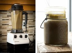 Iced Mocha Green Monster Smoothie