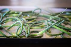 Roasted Garlic Scapes with Parmesan via The Elliott Homestead