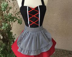Pirate costume apron dress