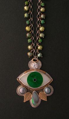 Evil eye necklace to ward off evil spirits
