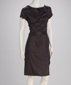 Take a look at this Gray Extra Credit Dress by Shabby Apple on #zulily today!