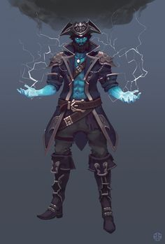Posedo's Crew, Brother Lightning Gale StormCloud (big brother Thunder StormCloud is a storm giant) Fantasy Character Design, Character Creation, Character Design Inspiration, Character Concept, Character Art, Fantasy Races, Fantasy Rpg, Fantasy Artwork, Dungeons And Dragons Characters