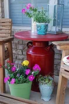 Garden table or a birdbath idea
