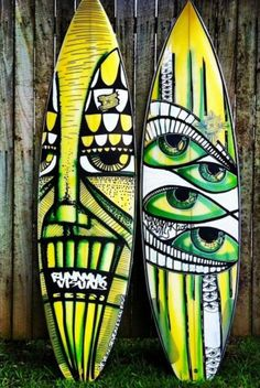 Surfing holidays is a surfing vlog with instructional surf videos, fails and big waves Surfboard Painting, Surfboard Art, Style Surfer, Surf Style, Skateboard Design, Skateboard Art, Deco Surf, E Skate, Posca Art