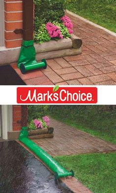 Basic 25 Best Downspout Ideas On Flat Rock Patio Wet Basement Solutions, Inspiration Wand, Yard Drainage, Landscape Curbing, Drainage Solutions, How To Install Gutters, Outdoor Fun, Outdoor Decor, Home Fix