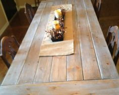 Amazing DIY Farmhouse Table Plans & Ideas for Your Dining Room (Free) Dining Table Legs, Patio Table, Pine Table, Trestle Table, Kitchen Tables, Kitchen Dining, Kitchen Island, Farmhouse Table With Bench, High Top Tables
