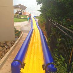 Slip n slide water slide! Our kids love it!