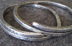 Wrap Sterling Silver Bangle Bracelet.