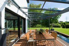 Pergola With Retractable Canopy Info: 2044469071 Diy Pergola, Deck With Pergola, Patio Roof, Pergola Ideas, Pergola Kits, Roof Ideas, Pergola Roof, Design Jardin, Garden Design