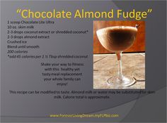 forever living recipes using chocolate lite ultra protein shake. www.thealoeladyuk.com
