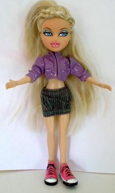 "2010 Bratz MGA Cloe Doll Wearing Purple Top With Braided Hair 9 1/2"" Tall #Bratz #DollswithClothingAccessories"