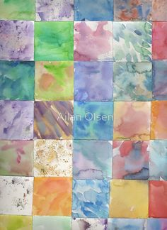 Watercolor Background Canvas Print by Ailan Olsen