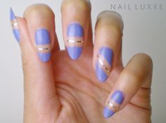 Blue Negative Space Nails  Pinterest@georgiapeaach