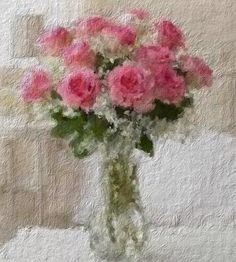 Roses, oil colors on canvas.