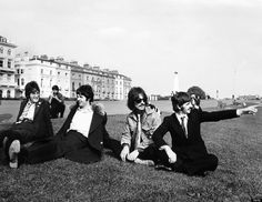 Vintage Photos Of The Beatles To Celebrate The 44th Anniversary Of Abbey Road...only saw this from another angle - this is so much better!! Click for more great Beatles' pics