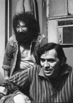 Jerry and Bill Graham, Fillmore East, 1968 Grateful Dead Wallpaper, Dead Pictures, Dead Images, Grateful Dead Image, Mickey Hart, Jerry Garcia Band, Bill Graham, Miss Your Face, Bob Weir