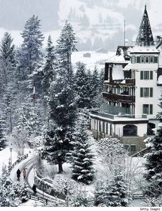 Gstaad, Switzerland wonderful skiing - if only I was a good skier:( Hubby enjoyed it!