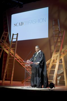 SCAD Trustee Andre Leon Talley at the 2009 SCAD Fashion Show