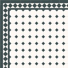 London Mosaic Victorian tile design: Octagon 100 - monochrome, traditional victorian, floor tiles octagon