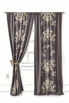 Velvet curtains are a fav of mine, but velvet plus this amazing pattern?! LOVE. Anthropologie.