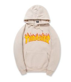 Fashion pink Mens Thrasher Hoodie Sportswear Fleece Sweatshirt Autumn Winter Skateboard Thrasher Tracksuit Pullover Hoodies